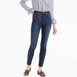 """J. Crew 10"""" High Rise Toothpick Jeans 27 NWT"""